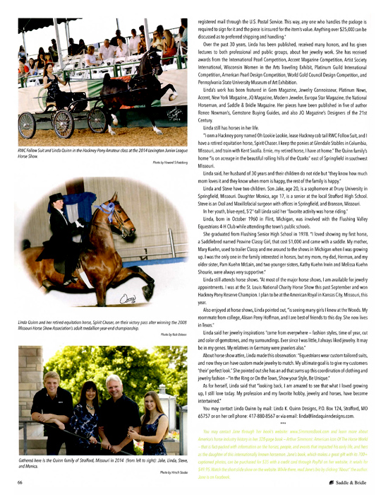 Saddle & Bridle Article